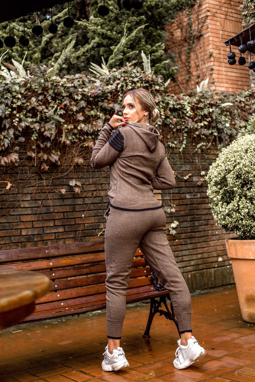 conjunto tricot mousse com jaqueta Franciele