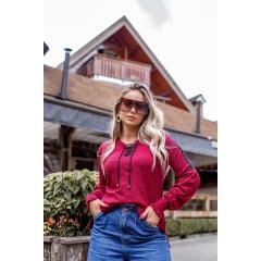 Blusa tricot Flame Decote V Seleste
