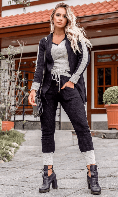 conjunto tricot mousse Gabriela