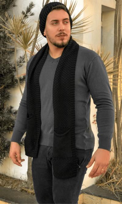 kit touca e Cachecol masculino Gustavo