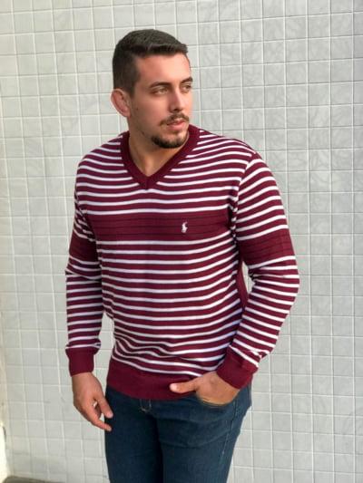 Blusa masculina gola V Miguel